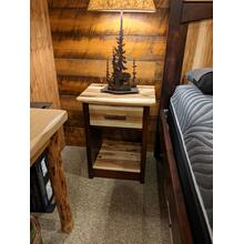 Promo Hickory 1-Drawer Nightstand