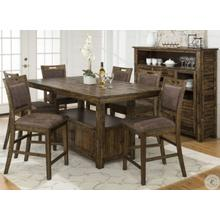 Cannon Valley Square Extendable Counter Height Dining Table & 6 Chairs