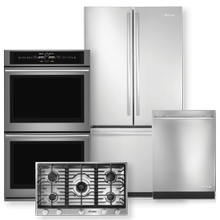 See Details - Stainless Steel French Door Refrigerator & Gas Cooktop 4 Piece Package- Open Box