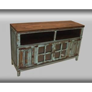 "Rustic Turquoise 60"" Media Console"