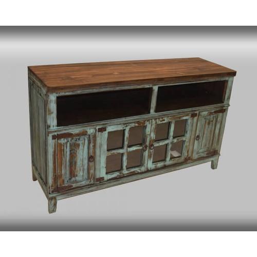 "PFC Furniture Industries - Rustic Turquoise 60"" Media Console"