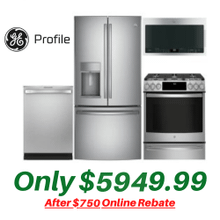 View Product - GE Profile Kitchen Suite with New Air Fry Convection Slide-in Gas Stove and New Non-Fingerprint Stainless Steel Refrigerator
