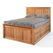 King 12 Drawer Chest Bed with High Footboard
