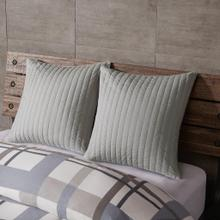 Camila Grey Quilted Euro Sham
