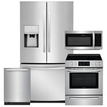 See Details - FRIGIDAIRE 26.8 Cu. Ft. French Door Refrigerator & 30'' Freestanding Electric Range 4Pc Package- Open Box