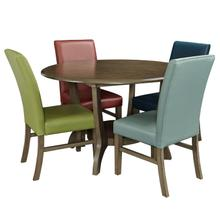 17D8251DT/SC  Table and 4 Chairs, Sky, Navy, Green and Red