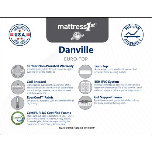 Danville Euro Top - Danville - Euro Top - Queen Mattress Only