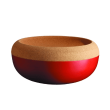 Emile Henry Ceramic Large Storage Bowl, Burgundy Red