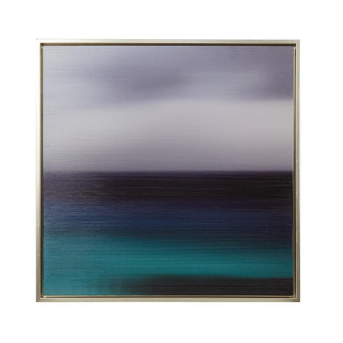 Blue Seascape Heavy Brush Gel Coat With Silver Framed