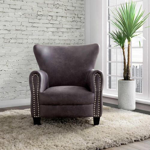 ELEMENTS UAD-3000101 Adams Sierra Charcoal Chair