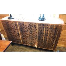 View Product - Burnt wood & metal sideboard.