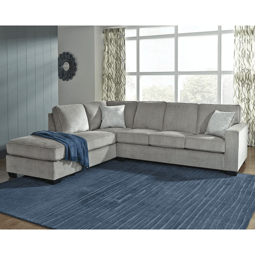 Altari - Alloy - 2-Piece Sectional with Left Facing Chaise and Full Sleeper