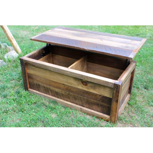 Cozy Creations Collection - Barn Board Lift Top Coffee Table