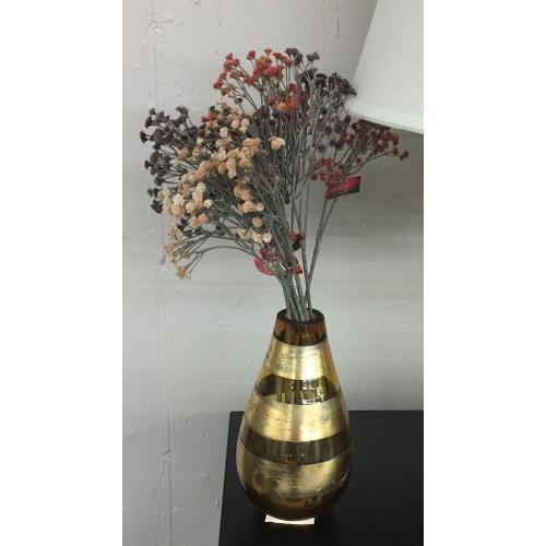 Vase, Teardrop, Amber