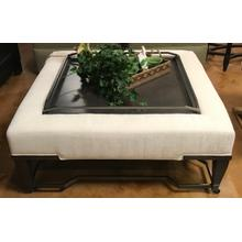 Cocktail ottoman with tray