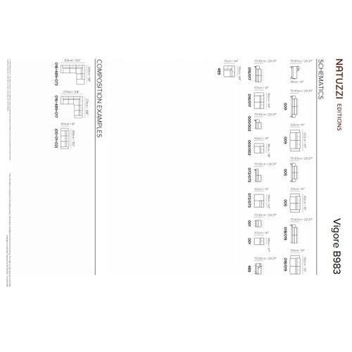 Natuzzi Editions Vigore B983 Sectional