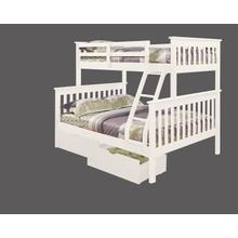 Twin-Full Mission Bunk Bed with optional Trundle or Drawer Unit