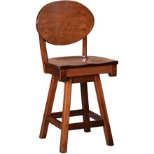 Helvetica Amish Custom Counter / Bar Swivel Stool
