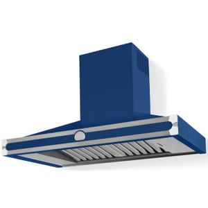 Lacornue Cornufe - Royal Blue Cornufe 110 Hood with Polished Chrome Accents