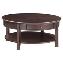 McKenzie round cocktail table