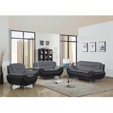 METRO  GREY & BLACK 3PCS LIVING ROOM SET