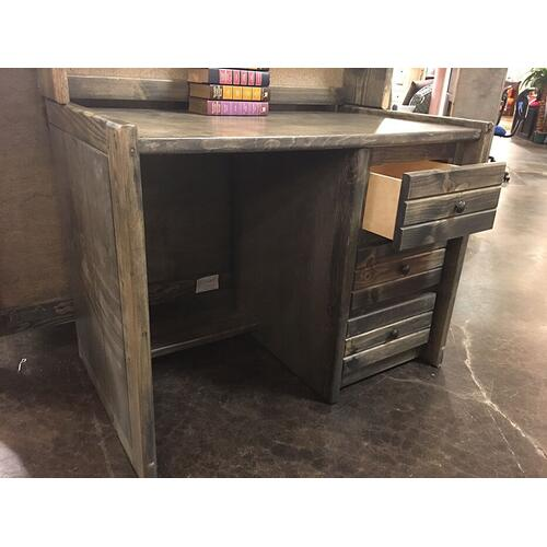 3 Drawer Desk Rustic Grey