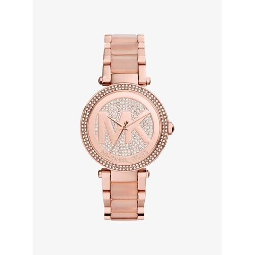 MICHAEL KORS Parker Pav Rose Gold-Tone Watch