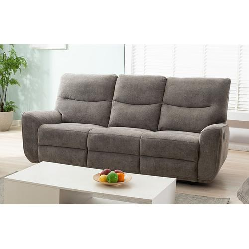 Lifestyle - LIFESTYLE U80033-61BPSHINX U80033-42BPSHINX U80033-21BPSHINX Plush Oatmeal Reclining Sofa, Reclining Console Loveseat & Glider Recliner Group