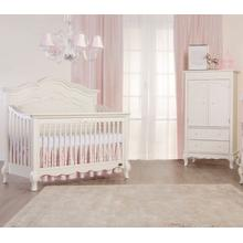 Aurora Crib in Ivory Lace