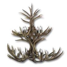 See Details - WHITETAIL DEER TWO TIER CHANDELIER