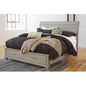Naydell Queen Storage Bed Rustic Gray