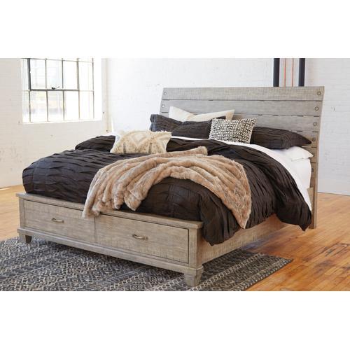 Naydell Queen Storage Bed Rustic Gray