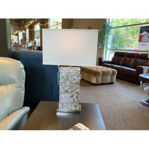 Abalone Rectangular Table Lamp