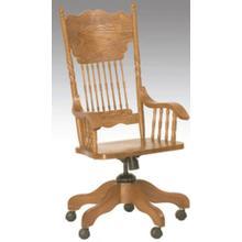 View Product - Larkin Twist Arm Desk Chair Solid Oak