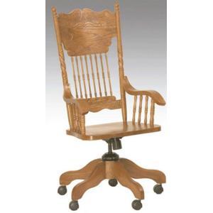 Larkin Twist Arm Desk Chair Solid Oak