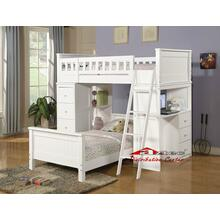 Acme 10970 Willoughby White Twin loft Bedroom set Houston Texas USA Aztec Furniture