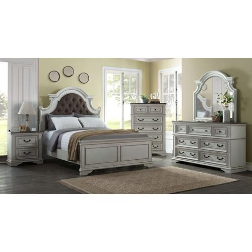 Grove Hill - Antique White 6 Piece Bedroom Set