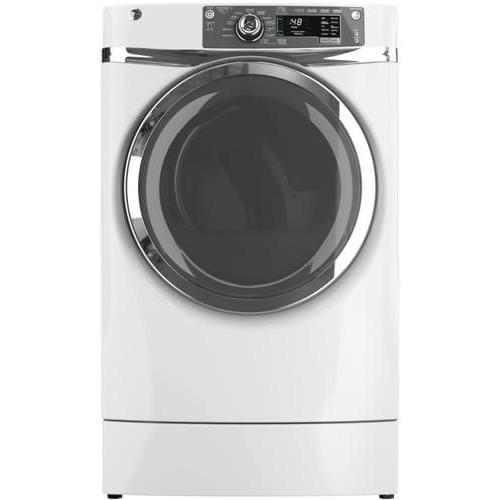 GE Appliances - GE 8.3CF White Front Load Electric Dryer