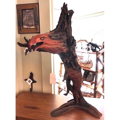 Home Accents - Hand-cast & individually painted Juniper carving.