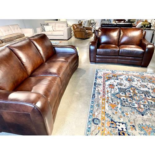 Futura - Pacific Chestnut Leather Sofa & Loveseat