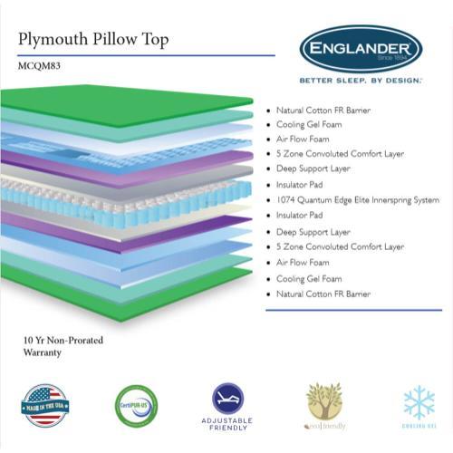 Englander Mattress - Plymouth - Pillow Top