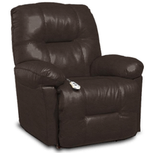 View Product - ZAYNAH Leather Power Recliner - Chocolate