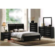 Acme 04153 Ireland Black PU Bedroom set Houston Texas USA Aztec Furniture