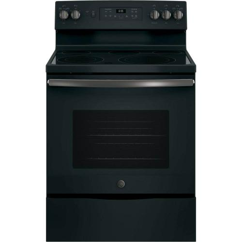 GE 5.3CF Black Slate Freestanding  Convection Range with Self Clean