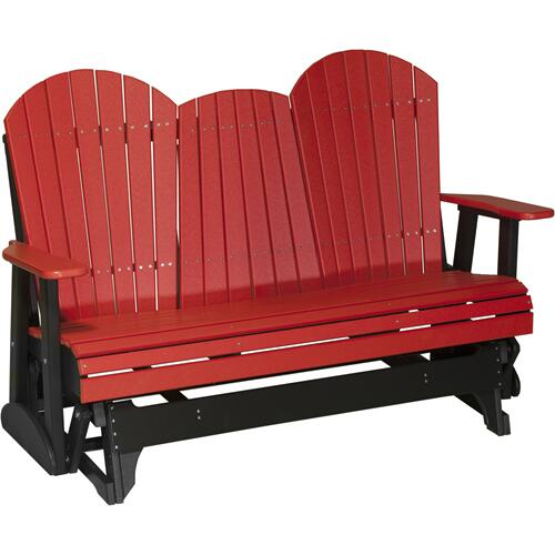 Adirondack Glider 5' Red and Black