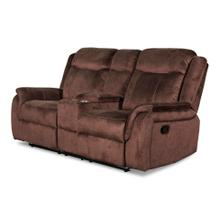 Cavett Console Reclining Loveseat in Cocoa Fabric
