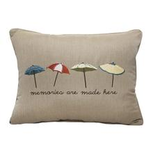 "Umbrella Embroidery 16""x20"" - Canvas Heather Beige"