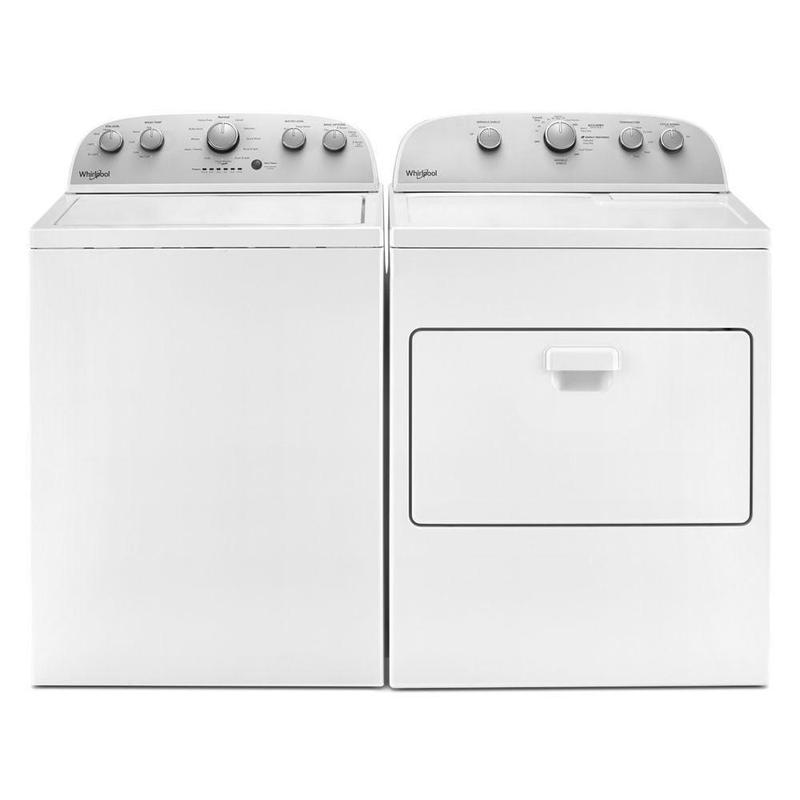 View Product - Whirlpool 4.2 cu. ft. High-Efficiency Top Load Washer with Agitator & 7.0 cu.ft Top Load Electric Dryer with Wrinkle Shield Plus