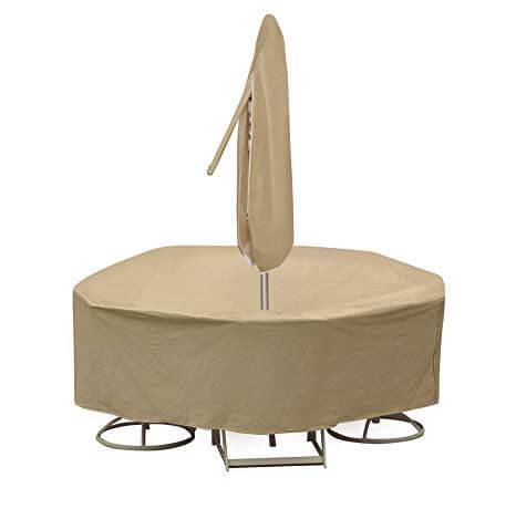 """Product Image - Round Table & Chair Set Cover, 48"""" x 54"""" Bar Height Table With 4-6 High Back Chairs"""