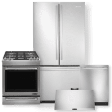 Stainless Steel Counter Depth French Door Refrigerator & 30 Inch Dual Fuel Range Package- Open Box